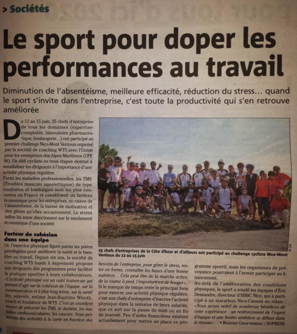 Le Challenge Nice Mont Ventoux dans la presse