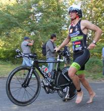 Transition vélo triathlon Baudreix