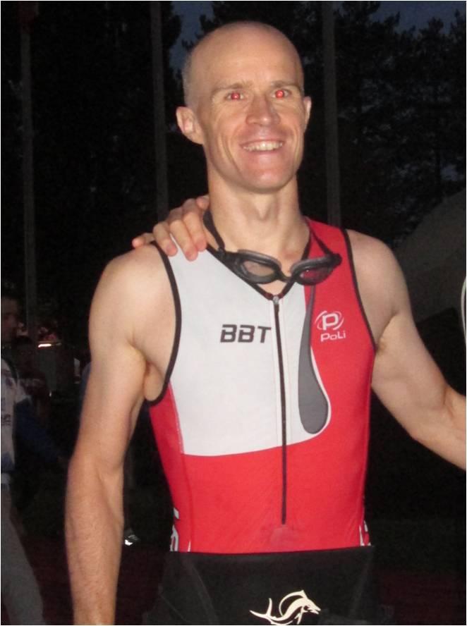 Photo de Stéphane Blondel avec le départ de l'Ironman de Vichy