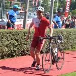Photo de Stéphane Blondel au départ vélo de l'Ironman Vichy